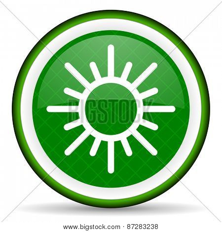 sun green icon waether forecast sign