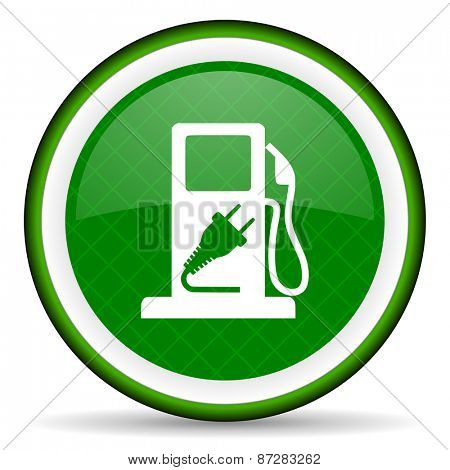 fuel green icon hybrid fuel sign