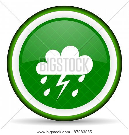 storm green icon waether forecast sign