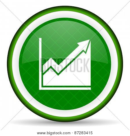 histogram green icon stock sign