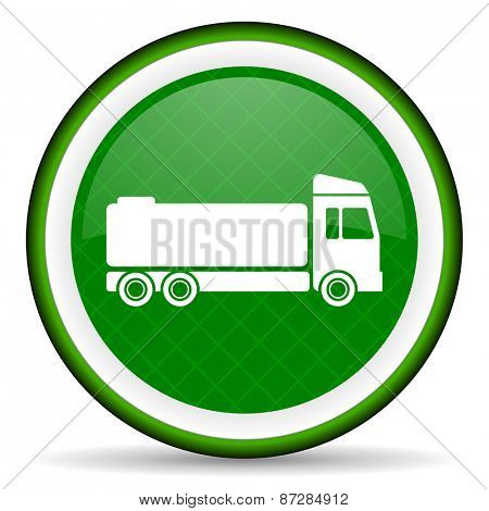 truck green icon cargo sign