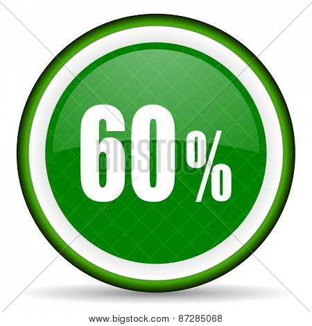 60 percent green icon sale sign