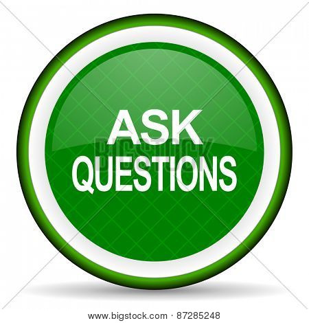 ask questions green icon