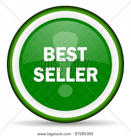 best seller green icon