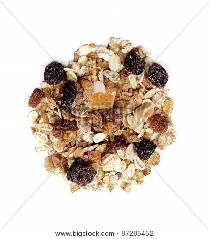 Fruit Muesli On White Background