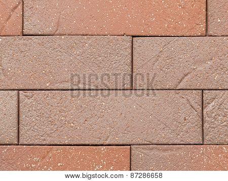 Beautiful Wall Of Artificial Red Bricks