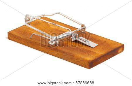 Mousetrap Isolated on white background