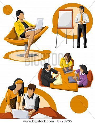 Grupo de personas que trabajan