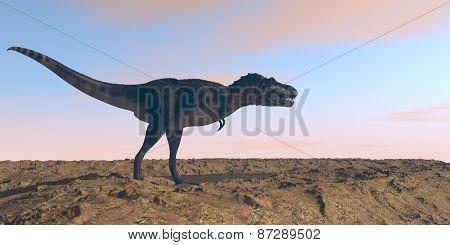walking tarbosaurus