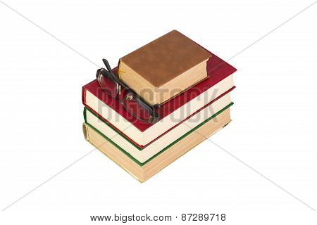 The books isolated on white