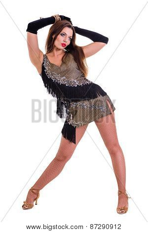 Latino dancer woman posing