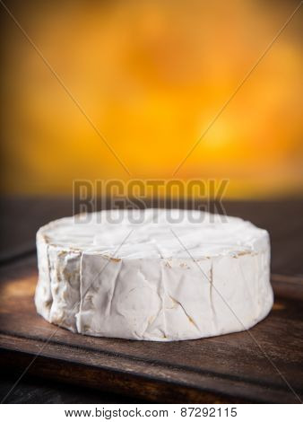 Camembert cheese, close-up, still-life.