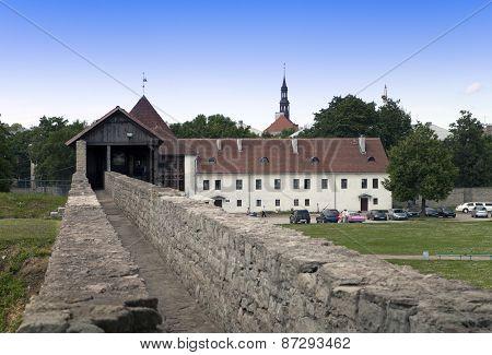 the yard of fortress. Narva. Estonia