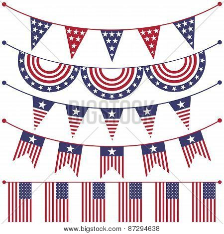 USA patriotic buntings
