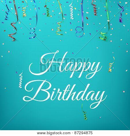 Happy birthday celebration background template.