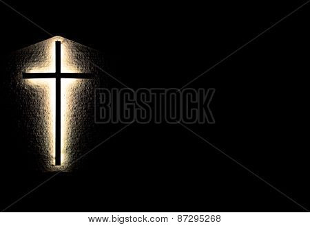 Illuminated Cross Background