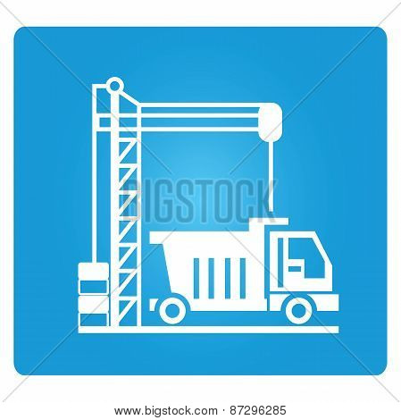 loading crane and truck