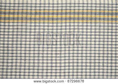 detail of grey checkered dishtowel backgrounds