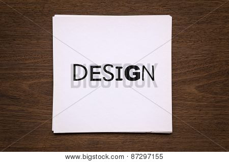 White Paper Cards With Word