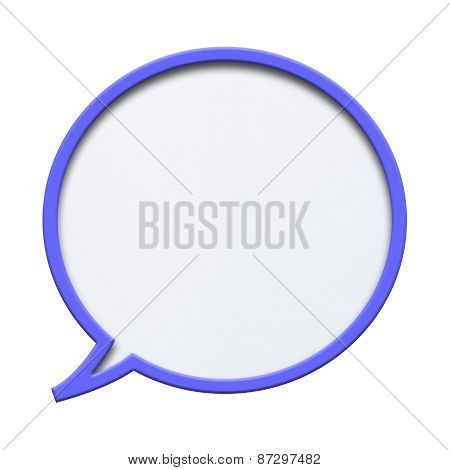 Blue Empty Speech Bubble