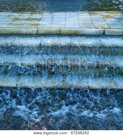 Water Flows Down Marble Steps