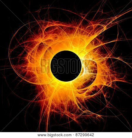 The eye of God - Solar Eclipse
