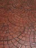 picture of stone floor  - brown block floor of pavement - JPG