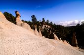 image of canary  - Rock Formations Paisaje Lunar on Canary Island Tenerife - JPG