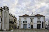 stock photo of church  - Church of Nossa Senhora da Soledade Municipal Museum entry - JPG