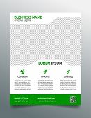 stock photo of prospectus  - Corporate business flyer template  - JPG