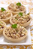 image of cod  - Salad with cod liver - JPG