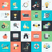 pic of blog icon  - Flat design vector illustration icons for digital marketing and business - JPG