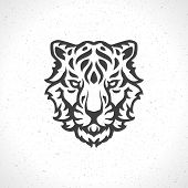 image of tigers  - Tiger face logo emblem template mascot symbol for business or shirt design - JPG