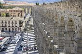 stock photo of aqueduct  - Tourist - JPG