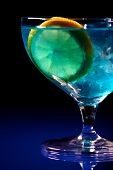 stock photo of curacao  - Close up of blue curacao drink - JPG