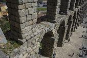 foto of aqueduct  - Roman aqueduct of segovia - JPG