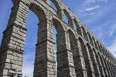 stock photo of aqueduct  - Roman aqueduct of segovia - JPG