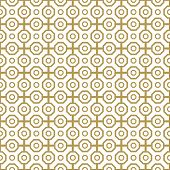 picture of octagon  - Geometric fine abstract  pattern with golden octagons - JPG