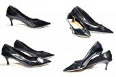 stock photo of black heel  - Photo of ladies black high heel shoes - JPG