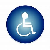 image of handicap  - Handicap or wheelchair person symbol - JPG