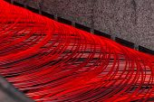 picture of manufacturing  - manufacturing wire Steel Works red gray fire - JPG