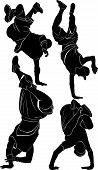image of break-dance  - silhouette collection breakdance break dance vector illustration - JPG