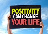 picture of feeling better  - Positivity Can Change Your Life card with sky background - JPG