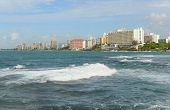 image of san juan puerto rico  - Condado is a upper class community at east of the Old San Juan - JPG