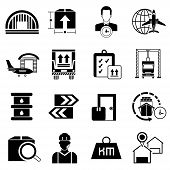 foto of shipping receiving  - set of 16 shipping and logistic icons - JPG