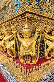 image of garuda  - Garuda statue in a temple in Thailand - JPG