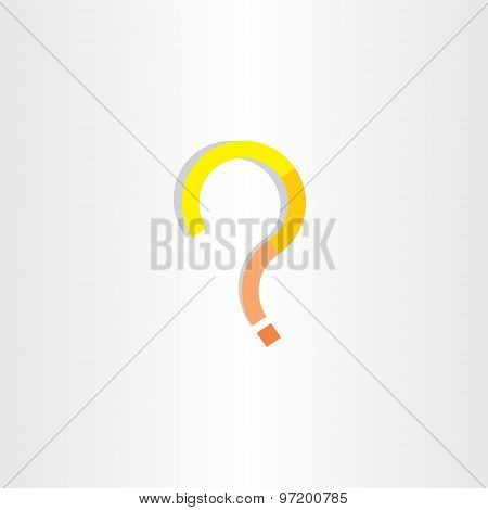 Yellow Question Mark Vector Clip Art