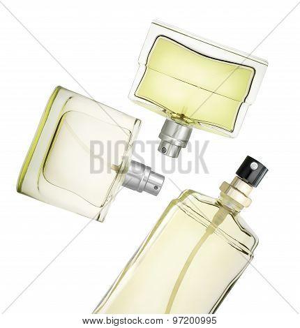 Perfume Bottles Floating