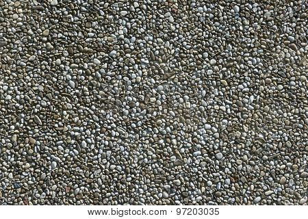 Exposed aggregate concrete in close-up