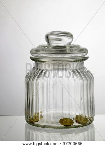 few coin in the saving jar